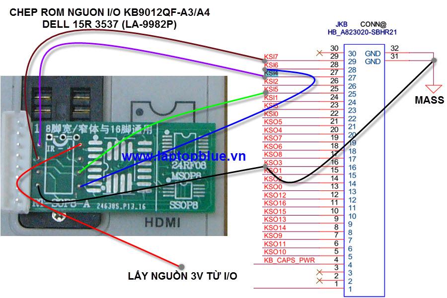 chep rom nguon15r 3537 LA9982P kb9012qf-a3 a4