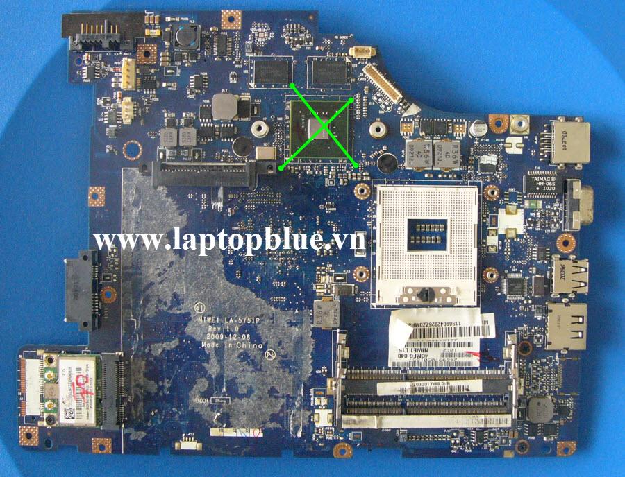 Chuyển VGA Share Laptpop lenovo G460  mã mainboard LA-5751P